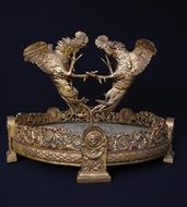 Picture of A FRENCH BRONZE SCULPTURE DEPICTING TWO GILDED COCKS FIGHTING