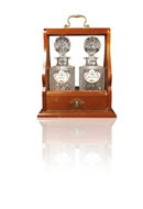 Picture of A TWIN BOTTLE VICTORIAN TANTALUS
