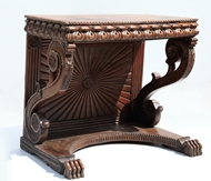 Picture of A TEAKWOOD CONSOLE TABLE