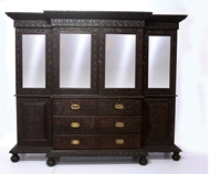 Picture of A ROSEWOOD BREAKFRONT BOOKCASE