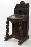 Picture of A ROSEWOOD CARVED DAVENPORT