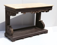Picture of A ROSEWOOD CONSOLE TABLE WITH MARBLE TOP