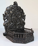 Picture of A ROSEWOOD HIGH RELIEF CARVED WALL BRACKET