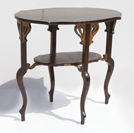 Picture of A TEAKWOOD CENTRE TABLE IN EDWARDIAN PATTERN