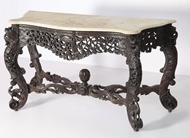 Picture of A ROSEWOOD CONSOLE TABLE