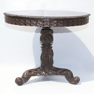 Picture of A ROSEWOOD TILT-TOP CENTRE TABLE