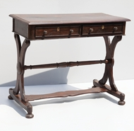 Picture of A VICTORIAN ROSEWOOD LIBRARY TABLE