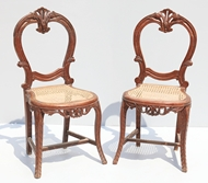 Picture of A PAIR OF VICTORIAN MAHOGANY CHAIRS