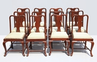 Picture of A SET OF TWELVE QUEEN ANNE-STYLE ROSEWOOD DINING CHAIRS