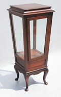 Picture of A ROSEWOOD DISPLAY CABINET