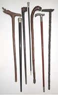 Picture of A SET OF SEVEN WALKING STICKS