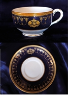 Picture of A VERY FINE GOLD GILTED JODHPUR ROYAL FAMILY'S DINNER SET