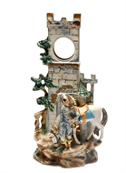 Picture of A FINE CONTINENTAL PARTIALLY GLAZED CERAMIC CLOCK-TOWER