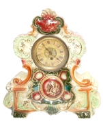 Picture of A PAINTED PORCELAIN ROCOCO STYLE CLOCK