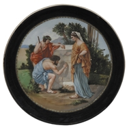 Picture of A VIENNA HAND PAINTED WALL PLAQUE
