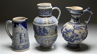 Picture of A GROUP OF THREE BERLIN GLAZED POTTERY JUGS