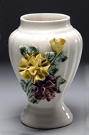 Picture of A CONTINENTAL CREAM COLOUR UNDER GLAZED VASE