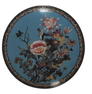 Picture of A CLOISONNE WALL PLAQUE