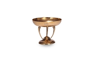 Picture of A GOLD PLATED SILVER TAZZA