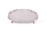 Picture of A FINE SILVER SQUARE SALVER