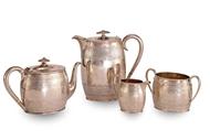 Picture of A FOUR PIECE SILVER TEA SERVICE
