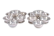 Picture of A SET OF TWELVE CONTINENTAL SILVER TERRAPIN DISHES & COVER