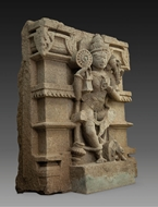 Picture of GREY STONE STELE SCULPTURE OF LORD VISHNU