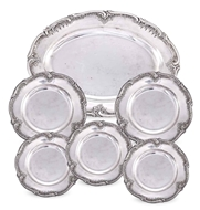 Picture of AN IMPRESSIVE SET OF SIX BERLIN SILVER SERVING DISHES (1768 - 1823)