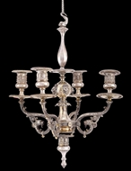 Picture of VICTORIAN FOUR LIGHT SILVER CHANDELIER