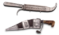 Picture of INDIAN SILVER DAGGERS (KATTARI)