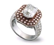Picture of EMERALD CUT DIAMOND RING