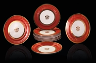 Picture of A SET OF TWELVE MONOGRAMMED SANDWICH /FRUIT PLATES