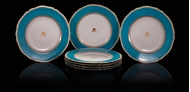 Picture of A SET OF SEVEN MONOGRAMMED COPELAND CHINA DINNER PLATES