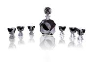 Picture of A BOHEMIAN CUT GLASS ART-DECO DECANTER SET