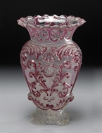 Picture of A Continental moulded glass vase