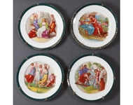 Picture of A SET OF FOUR VIENNA-STYLE CABINET PLATES