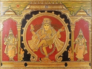 Picture of TANJORE PAINTING - SHIVA IN TANDAV